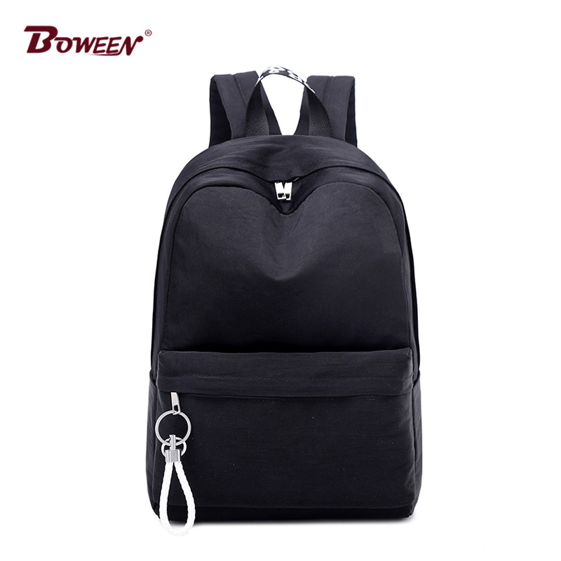 Black Backpack Women Teenage Girls Schoolbag Big College Students High School Bags High Quality Nylon Back Pack Female Bagpack