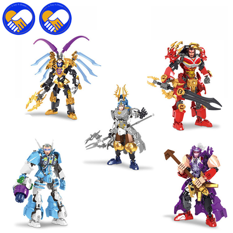 A TOY A DREAM Avengers Super Heros Bionicle Building Blocks Romance of the Three Kingdoms Heroes Lu Bu Assemble Brick Kid Toys a knight of the seven kingdoms
