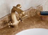 Envío libre estilo Dragón de bronce Antiguo Grifo de Latón Grifo Del Fregadero Cuarto de Baño del grifo inodoro cuenca grifos Lavabo grifo