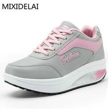 MIXIDELAI/ брендовая модная женская повседневная обувь; недорогая женская обувь на плоской подошве; дышащая повседневная обувь; Zapatillas; европейские размеры 35-40