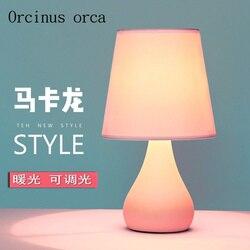 Północna europejska ciepłe księżniczka lampka do sypialni kreatywny minimalistyczny nowoczesny lampka ceramiczna pilot zdalnego sterowania lampa stołowa darmowa wysyłka|Lampy stołowe|Lampy i oświetlenie -