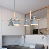 Nordic Makaromu Art Restaurant chandelier creative personality long Table dining room lamp simple Home lighting LM5091717