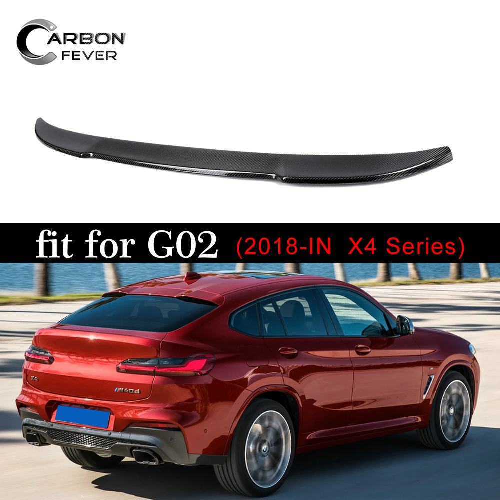 G02 Carbon Fiber Gloss Black Spoiler Wing For BMW X4 Class G02 2018