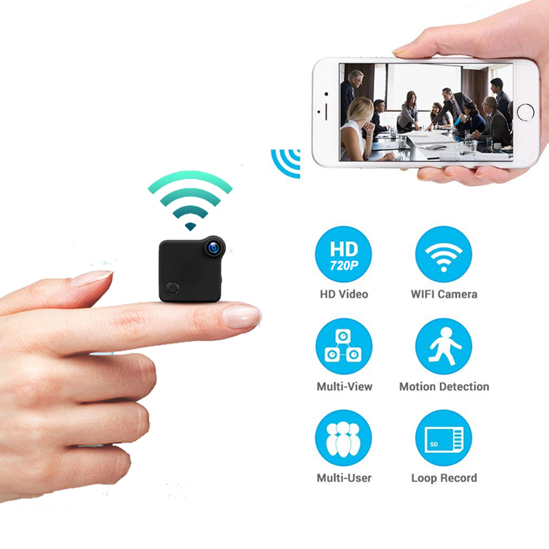HD Small Camera DV 1.3MP Motion Detection 1080P Wireless WiFi Smart Wearable DVR