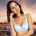 Nursing Bras Sexy lace bra Sexy lace bra with steel ring gathered to adjust the type of lingerie breathable thin cup cup bra