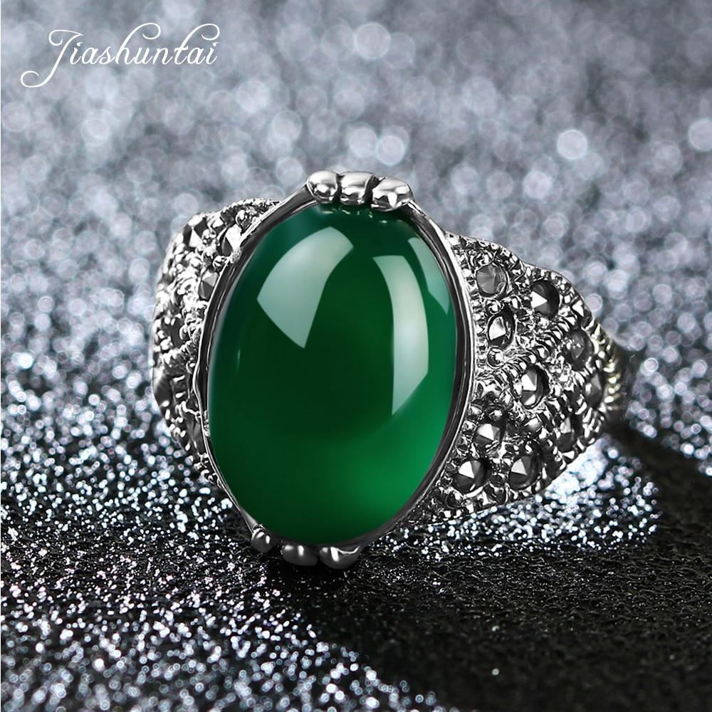 JIASHUNTAI Vintage 100% stříbrné prsteny pro ženy Retro dračí drápy prstové prsteny 925 mincovních stříbrných šperků žena