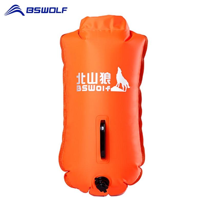 BSWolf sécurité natation sécurité PVC gonflable natation flottaison sac bouée de sauvetage piscine Floaties sec étanche sac Orange et rose