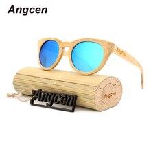 Angcen Handmade Natural Wooden Sunglasses Men Polarized Brand Retro Bamboo Sunglasses Women Vintage Wood Sun Glasses Eyewear цена
