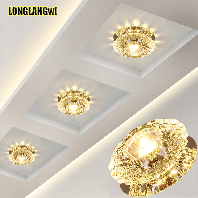 3W Aisle led ceiling lamp living room crystal corridor aisle lights LED Ceiling Lights Luces de Crystal Light | Crystal Light Flavors | 3W Aisle led ceiling lamp living room crystal corridor aisle lights LED Ceiling Lights Luces de techo multiple Colour Colorful
