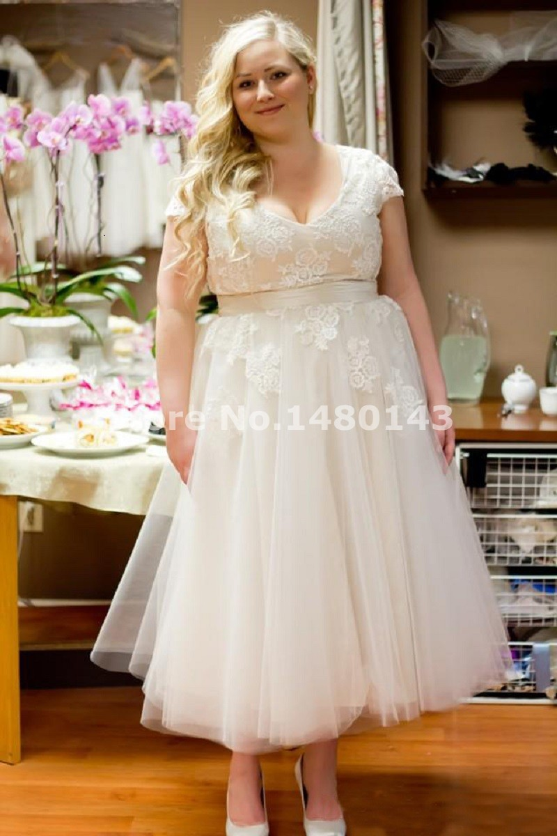 Compare Prices on Wedding Dress Plus Size Tea Length- Online ...