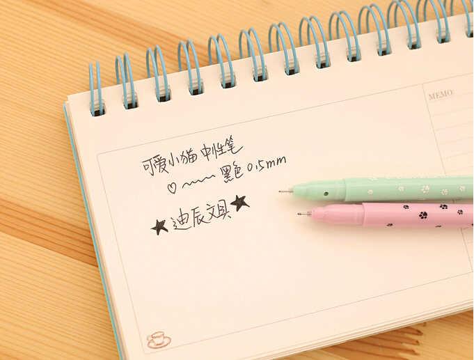 إلين بروك 1 قطعة كوريا القرطاسية مدرسة اللوازم المكتبية الأزياء الإبداع لطيف الكرتون القط هلام الأقلام الفتيات Kawaii