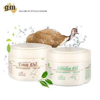 Australia GM Skincare Seat Emu Oil Cream+Lanolin Day Cream for hydrate soothe dry skin, Healing Properties fine lines & wrinkles