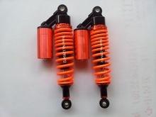 Новый 8 мм весной 1 Пара 300 мм 310 мм ATV Мотоцикл Dirt Bike Задний Амортизатор Подвески оранжевый цвет