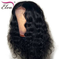 Elva Hair 13x6 Lace Front Human Hair Wigs For Black Women Brazilian Body Wave Lace Wig Pre Plucked With Baby Hair Remy Hair