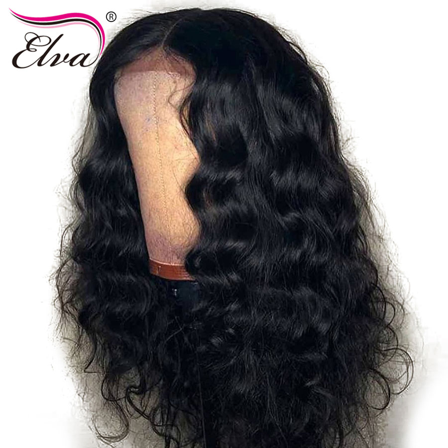 Elva Hair Fake Scalp Wig 13x6 Lace Front Human Hair Wig For Black Women Brazilian Body Wave Lace Wig Pre Plucked With Baby Hair