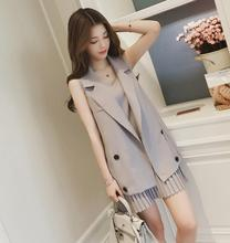 2018 women's spring and autumn long suit suit jacket + pleated strap dress fashion suit female leisure two-piece