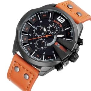 Image 3 - SKONEนาฬิกาผู้ชายหนังกันน้ำอัตโนมัติวันที่นาฬิกาข้อมือควอตซ์กีฬานาฬิกาชายChronographนาฬิกาRelogio Masculino
