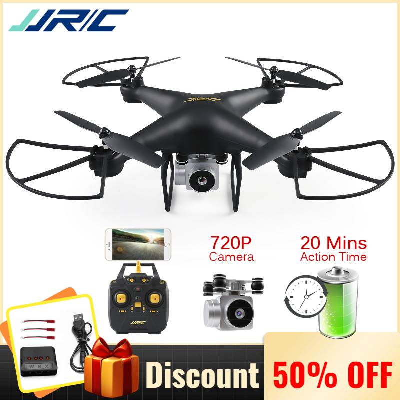 JJRC Rc-Drone Camera FPV Altitude-Hold Wifi with HD 720P Quadrocopter Headless Mode 20-Mins-Fly-Time