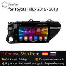 Ownice K1 K2 Android 8.1 car radio 2 din for Toyota Hilux 2016 — 2018 auto DVD on-board computer Navigation GPS AUDIO head unit