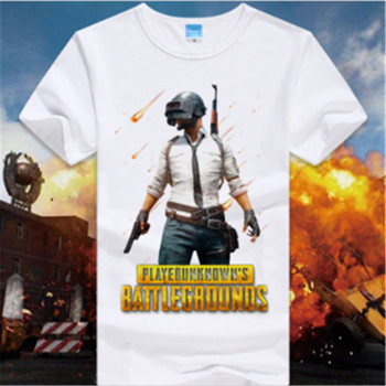 2018  PUBG/PLAYER UNKNOWN'S BATTLEGROUNDS t shirt game fans gift boy friend gift short sleeve PUBG T SHIRTS hot game concept tee