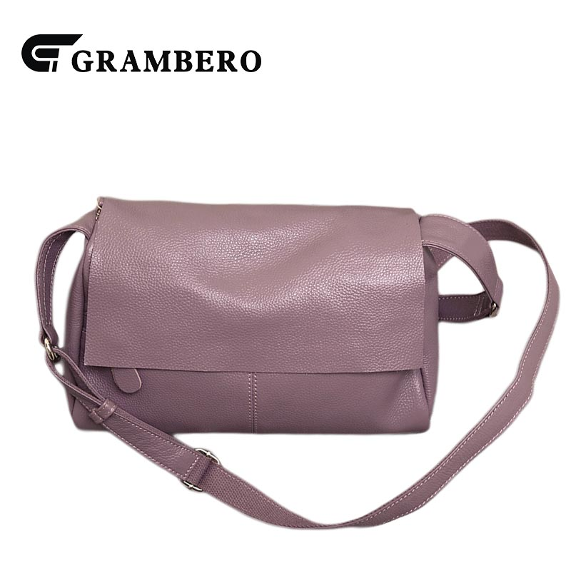 Fashion Women Casual Shoulder Bag Genuine Leather Soft Top Leather Solid Color Large Capacity Crossbody Messenger Bags Flap Gift casual solid color top leather shoulder bag heart shaped decoration cover fashion women clutch wallet crossbody messenger bag