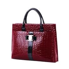 Luxury  Style Lady Handbag Women Crocodile Pattern