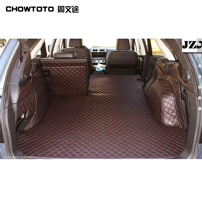 CHOWTOTO AA Custom Special Trunk Mats For Subaru Outback Durable Waterproof Leather Luggage Mats For Outback