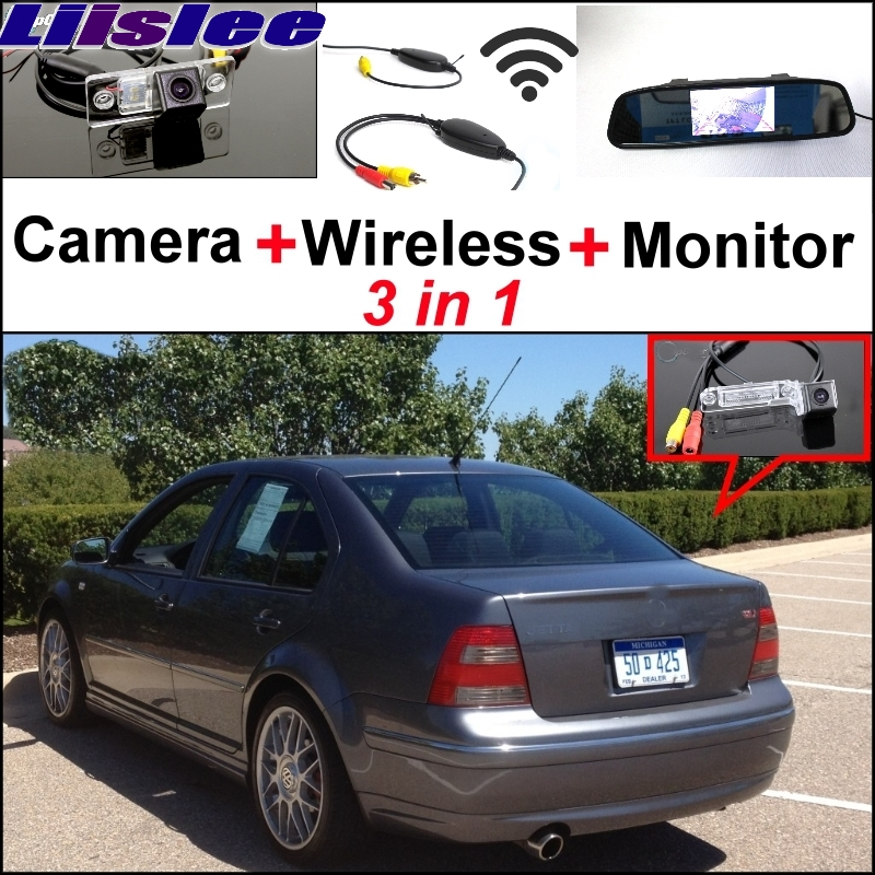 Liislee Special Wifi Camera + Wireless Receiver + Mirror Monitor Easy Backup Parking System For Volkswagen VW Jetta Bora A4 1J special wifi camera wireless receiver mirror monitor backup parking system for mercedes benz glk class mb x204 2008 2015
