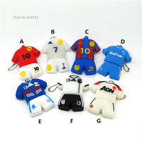 Cute USB Flash Drive Football clothes/suit/Jersey 4GB/8GB/16GB/32GB Pen Drive Flash Cards PenDrive Soccer Superstars