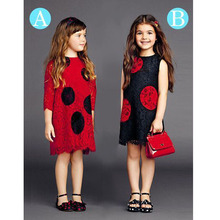 Girl Dress Princess Red Wedding Girls Summer Dress Birthday Meisjes Jurken Party Straight Spring Vestido Princesa