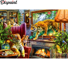 Dispaint Full Square/Round Drill 5D DIY Diamond Painting Animal tiger scenery3D Embroidery Cross Stitch Home Decor Gift A12206 dispaint full square round drill 5d diy diamond painting animal tiger sceneryembroidery cross stitch 3d home decor gift a11463