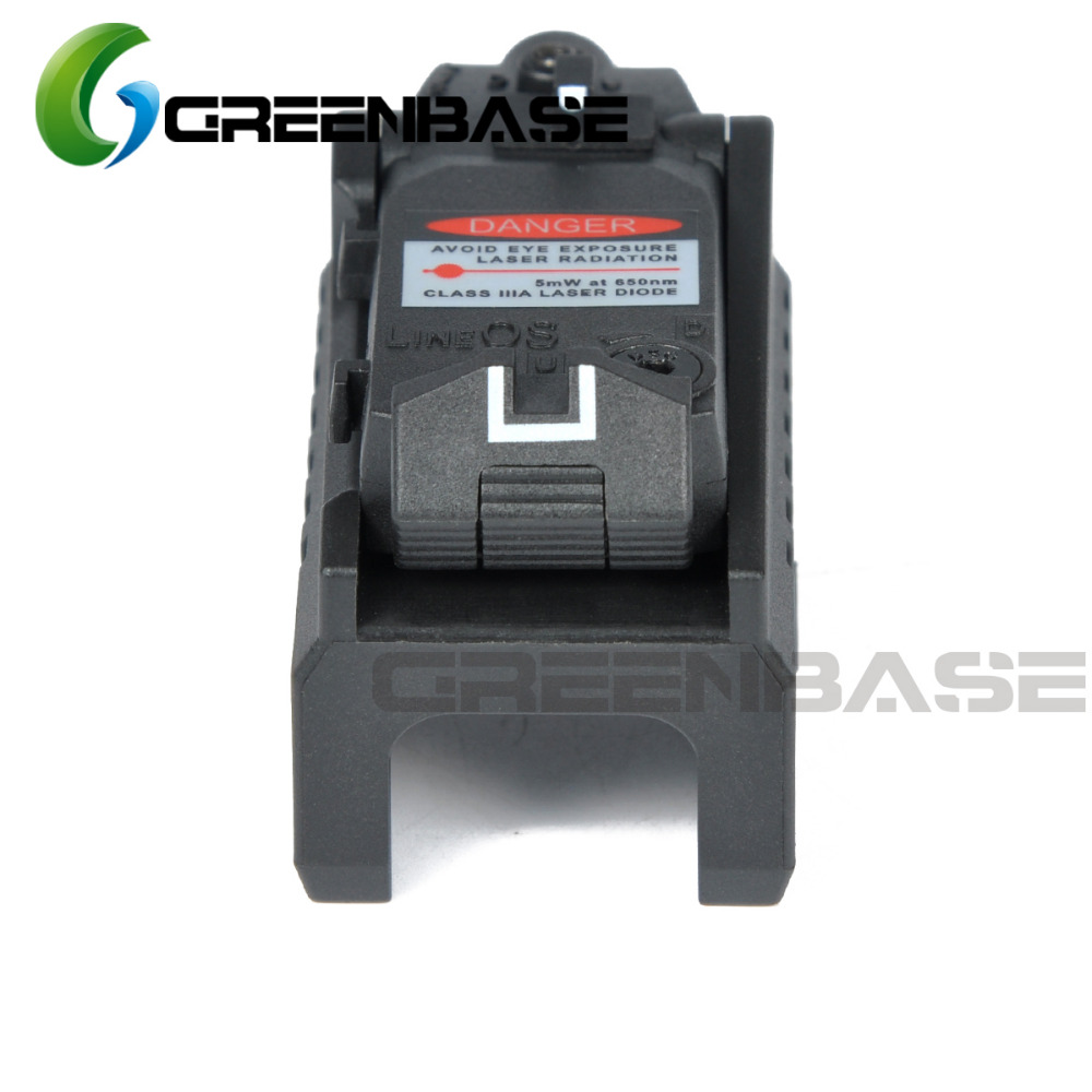 Greenbase Tactical Red Dot laser Sight Scope for Airsoft KWA KSC Glock 17 22 23 25 27 28 43 Pistol Iron Rear Sight-3