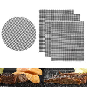 Bbq-Barbecue-Tool Grill Wire-Mesh Nonstick Stainless-Steel Oven Round Rectangle
