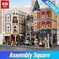 Lepin 15019 4002 unids MOC Creador Creativo Serie La Plaza de Montaje Conjunto de Bloques de Construcción Ladrillos Juguetes Pequeño pedazo de bloque 10255
