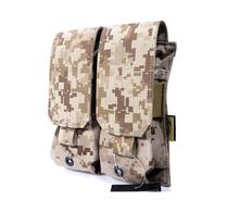 In stock FLYYE genuine MOLLE waterproof nylon Double dual cartridge ammunition M4/M16 Mag Pouch Military  CORDURA FY-PH-M002  in stock flyye genuine molle micro single lens camera bag cordura bg g033