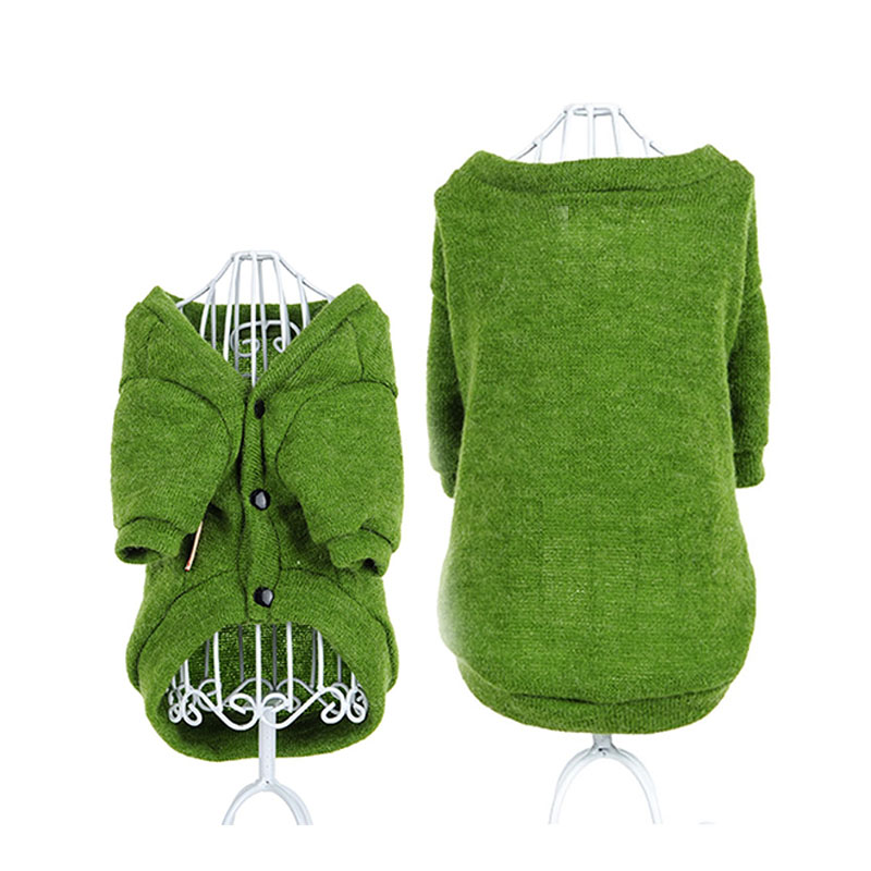 Spring Cat Pet Dog Hoodie Coat Jumpsuit Sweater for small Dogs puppy Sweatshirts Clothing dog Chihuahua knit cardigan clothes
