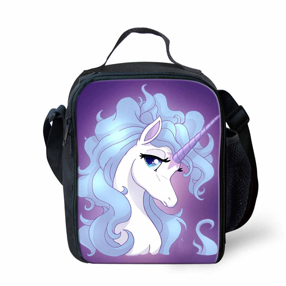 49314b2d04fb Cartoon Unicorn Pattern Neoprene Lunch Bag for Kids with Zipper Lunchbox  Insulation Bag Thermal Insulated Picnic Food Lunch Case