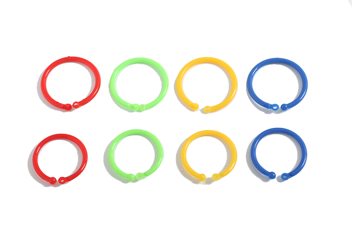 50pcs/box 33mm Colorful Plastic Book Circle Ring Opening Card Ring ...