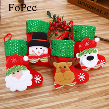 Christmas Decorations Socks Tree Ornaments Elderly Snowman Deer Bear Party Supplie