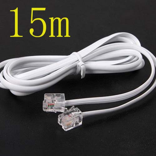 Free shippingHigh Speed 15m 45ft RJ11 Telephone Phone ADSL Modem Line Cord Cable Free shippingnew
