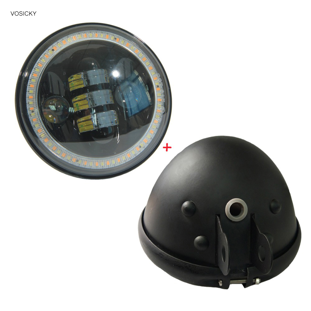 ФОТО VOSICKY  5.75 Inch Daymaker Led Headlight Housing motorcycle with h4 led headlight  5