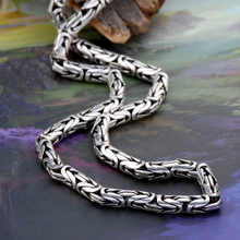 925 Sterling Silver Necklace Men Jewelry Big Statment 4mm 5mm 8MM 100% S925 Solid Silver Chain Necklaces Male Jewelry Making