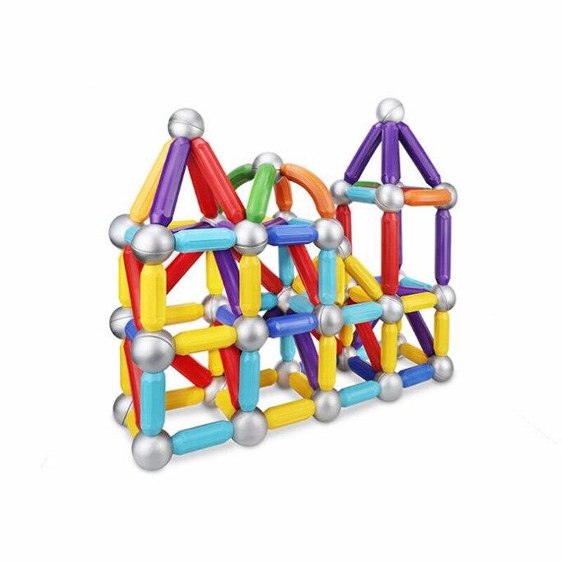 31 pièces blocs magnétiques jouets bâtons magnétiques boules en métal concepteur magnétique ensemble de jouets pour enfants cadeau