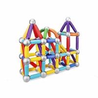 31pcs Magnetic Blocks Toys Magnet Sticks Metal Balls Magnetic Designer Constructor Set Toys for Children Gift