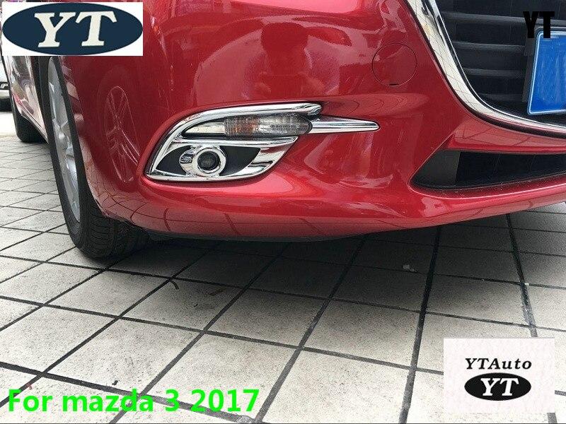 ABS cromo Niebla Delantera Luz L/ámpara de Coche 2pcs para coche accesorios