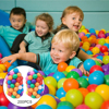 100pcs/lot Eco-Friendly Colorful Plastic Ball Water Pool Ocean Wave Ball Toys Stress Air Ball Outdoor Sports Toys for Children 1