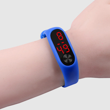 Fashion Outdoor Simple Sports Red LED Digital Bracelet Watch Men Women Colorful
