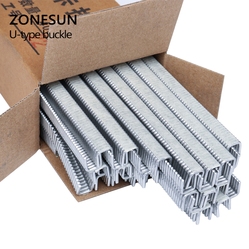 ZONESUN 1 box Buckle for Manual U-shape 506 503 Sausage Clipper Clipping Machine Maker, clips for Supermarket Tightening Machine zonesun 1 box buckle for manual u shape 506 503 sausage clipper clipping machine maker clips for supermarket tightening machine