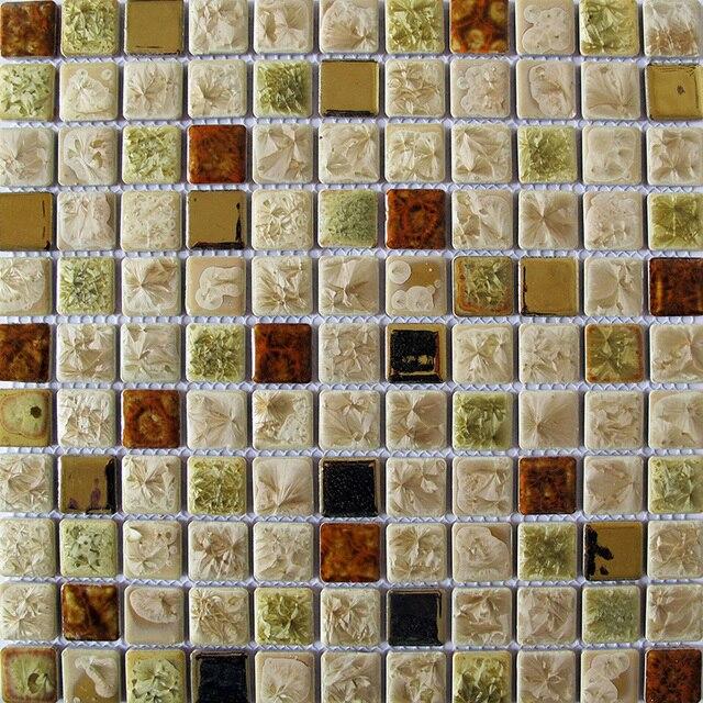 Cerámica del azulejo del mosaico backsplash de la cocina baño ...