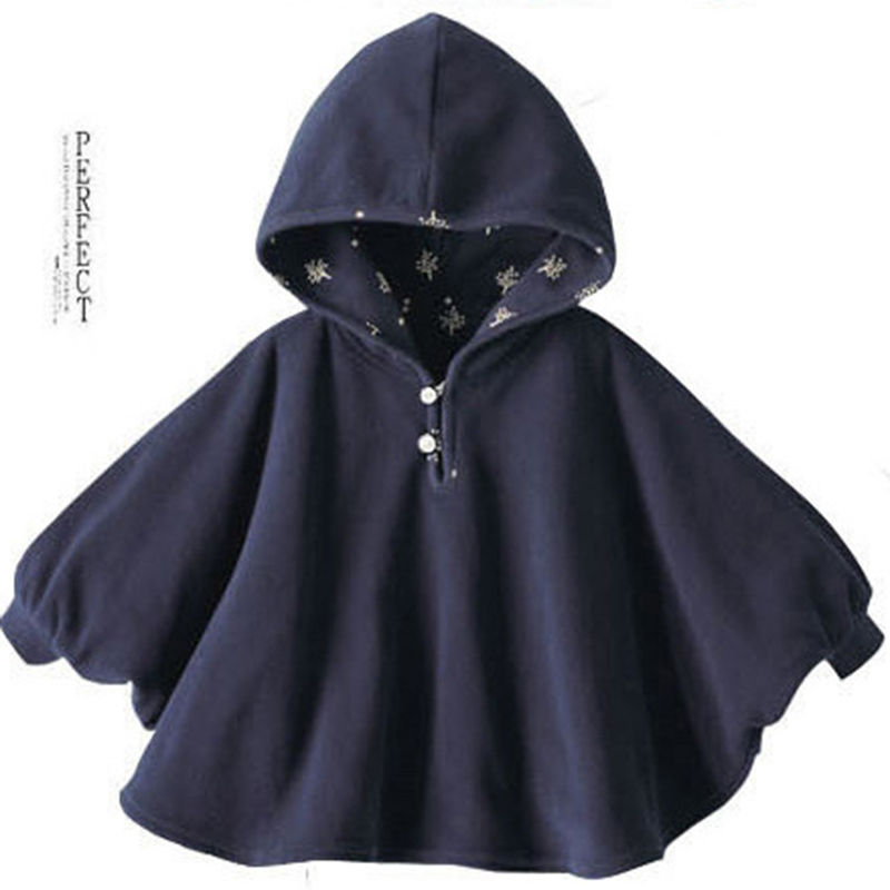 Baby Children Winter Kids Boys Girls Double-side Wear Hoodie Cloak Baby Clothes Bebe Poncho Cape Coat Outerwear hot sale butterfly and flower pattern feather pendant loose cloak coat poncho cape for women